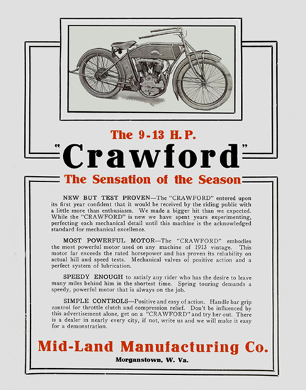The CRAWFORD Motorcycle Ad